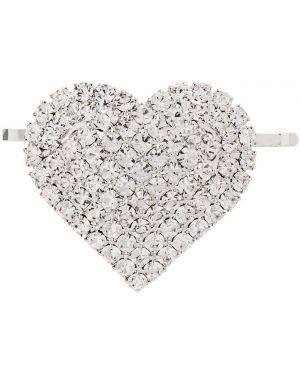 Серебряная заколка с декоративной отделкой Alessandra Rich
