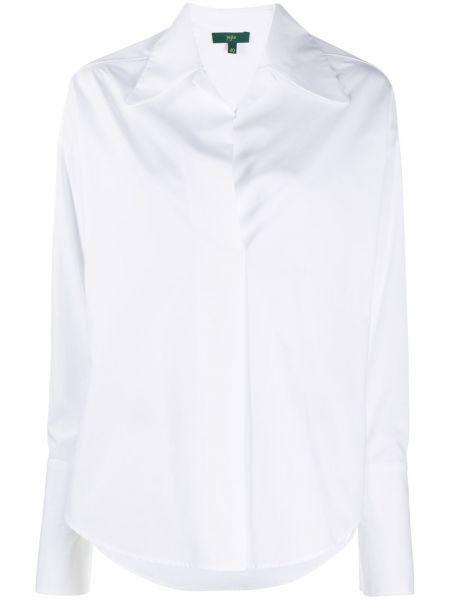 Хлопковая с рукавами белая рубашка Jejia