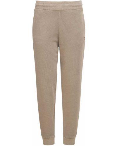 Коричневые брюки на резинке Reebok Classics