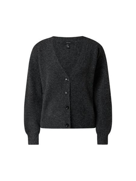 Czarny sweter z dekoltem w serek Vero Moda