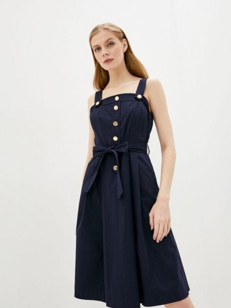 Платье платье-сарафан синее Lusio