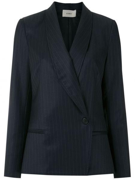 Шерстяной синий классический пиджак с подкладкой Egrey