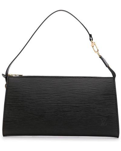 Czarna złota kopertówka Louis Vuitton