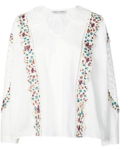 Блузка с вышивкой белая Tsumori Chisato