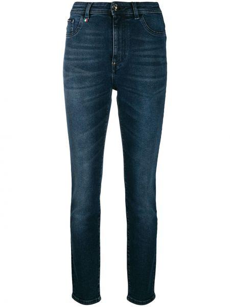 Облегающие зауженные джинсы - синие Philipp Plein
