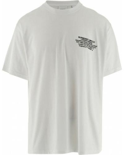 T-shirt krótki rękaw - biała Burberry