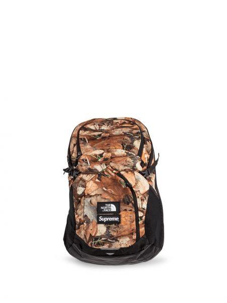 Czarny plecak miejski z nylonu Supreme