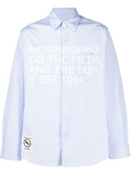 Koszula z długim rękawem klasyczna z logo Neighborhood