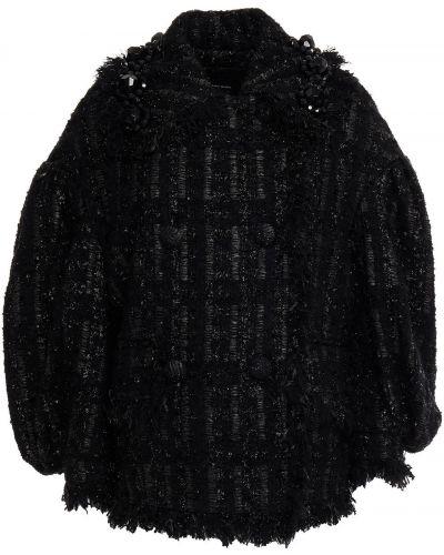 Черная шерстяная куртка Simone Rocha