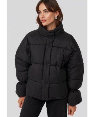 Утепленная куртка демисезонная черная Na-kd