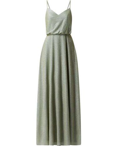 Zielona sukienka wieczorowa rozkloszowana Laona