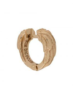 Золотистое кольцо золотое с декоративной отделкой Emanuele Bicocchi