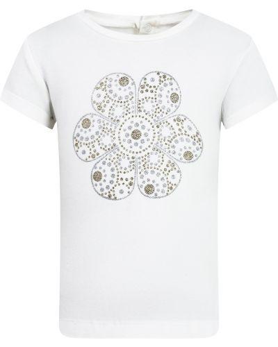 Хлопковая белая футболка Mayoral