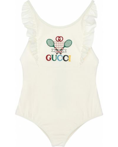 Strój kąpielowy na paskach z logo Gucci