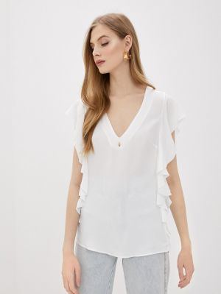 Белая блузка с оборками Cavalli Class