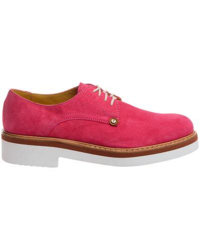 Кожаные туфли на каблуке замшевые Cesare Paciotti
