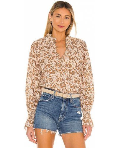 Хлопковая деловая блузка с манжетами Cleobella