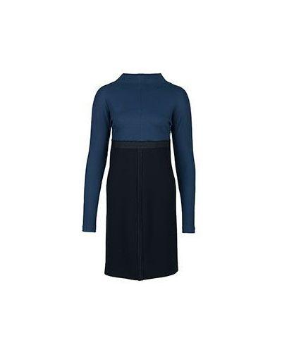 Синее платье с длинными рукавами Albino