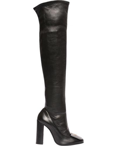 Ботфорты на каблуке кожаные Fabi