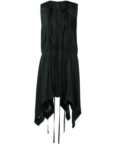 Платье мини с декольте - черное Vera Wang