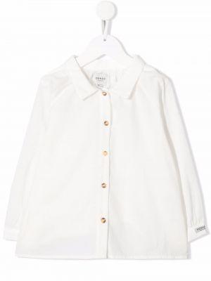Biała koszula bawełniana z długimi rękawami Donsje