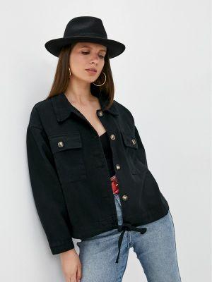 Черная джинсовая куртка Chic De Femme