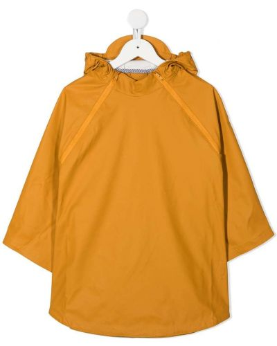С рукавами желтая длинная куртка с капюшоном Gosoaky