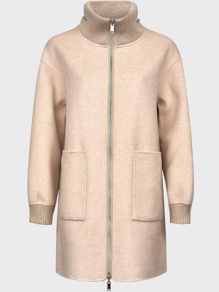 Шерстяное пальто - бежевое Diego M