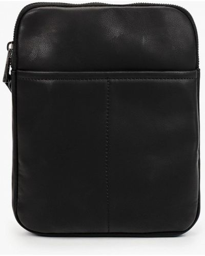 Кожаная черная сумка Springfield