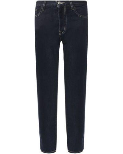 Синие укороченные джинсы Current/elliott
