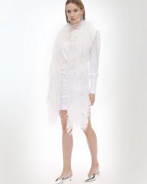 Biały szalik Simonetta Ravizza