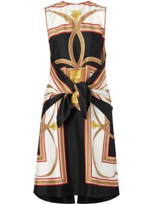 Платье в рубчик шелковое Burberry