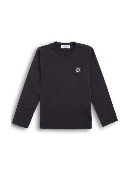 Czarna koszulka bawełniana Stone Island