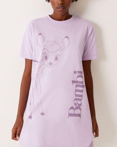 Piżama bawełniana krótki rękaw z printem Undiz