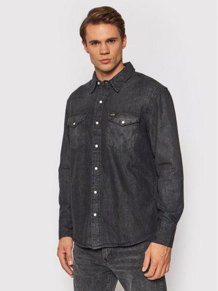 Koszula jeansowa - czarna Wrangler