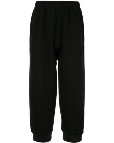 Свободные черные спортивные брюки с поясом с манжетами Zambesi