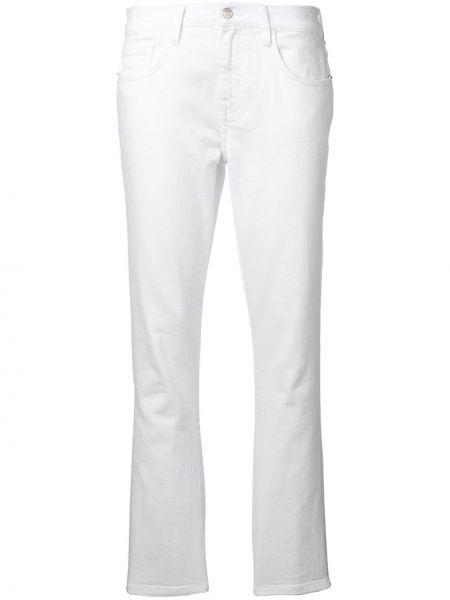 Прямые джинсы белые на пуговицах Current/elliott