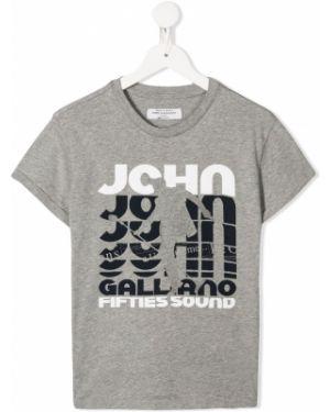 Футболка свободного кроя John Galliano Kids