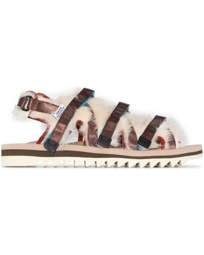Brązowy włókienniczy sandały Suicoke
