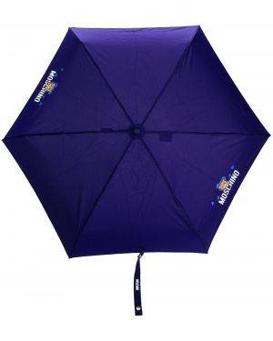 Зонт с логотипом - синий Moschino