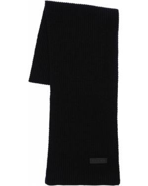 Czarny szalik wełniany Falke