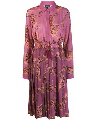 Платье миди розовое классическое Just Cavalli