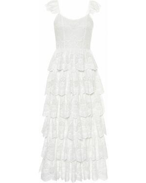 Платье миди с вышивкой весеннее Caroline Constas