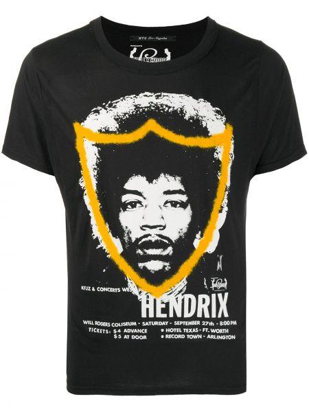 Czarny t-shirt krótki rękaw z printem Htc Los Angeles