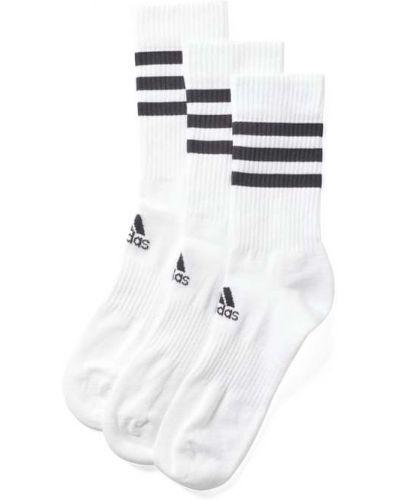 Białe skarpety bawełniane Adidas Performance