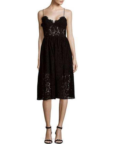Кружевное черное платье без рукавов Fame And Partners
