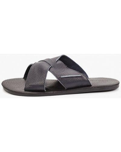 Синие кожаные сандалии Valser