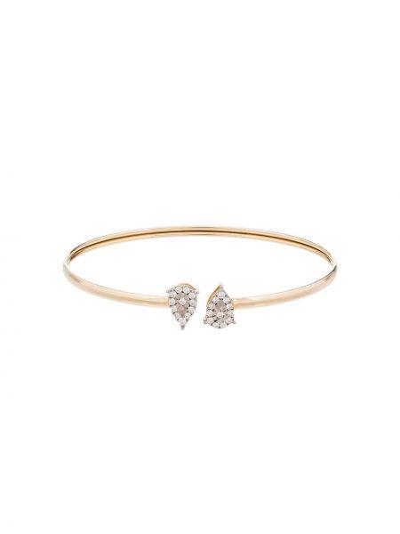 Золотой браслет с бриллиантом золотой без застежки Anissa Kermiche
