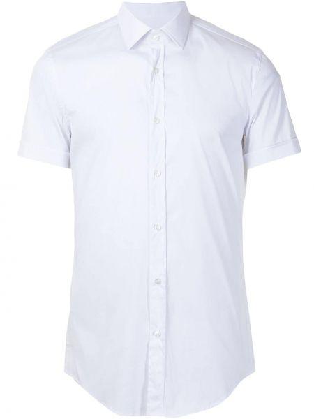 Bawełna klasyczna koszula krótkie rękawy z kołnierzem Boss