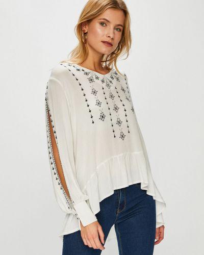 Блузка из вискозы с V-образным вырезом Answear